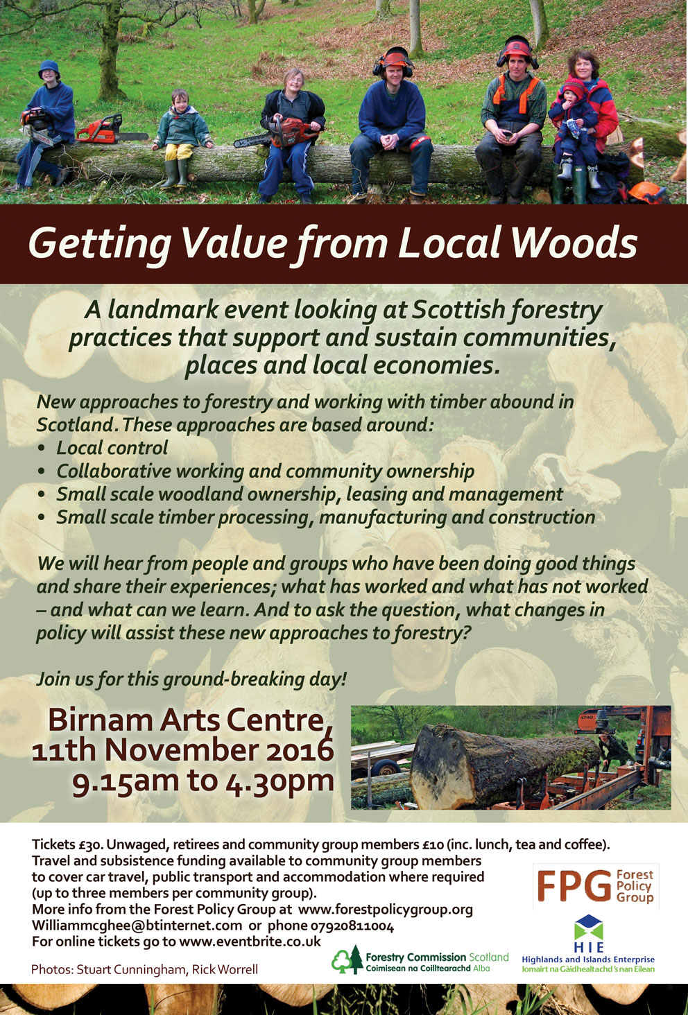 Getting Value from Local Woods Conference 11th of November
